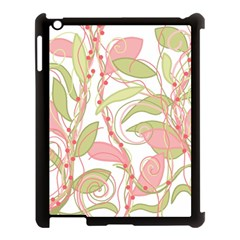 Pink And Ocher Ivy 2 Apple Ipad 3/4 Case (black) by Valentinaart