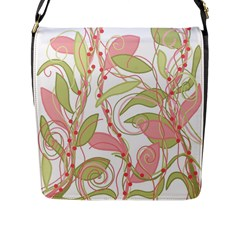Pink And Ocher Ivy 2 Flap Messenger Bag (l)  by Valentinaart