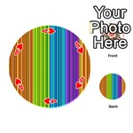 Colorful lines Playing Cards 54 (Round)  Front - Heart4