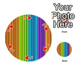 Colorful lines Playing Cards 54 (Round)  Front - Heart7
