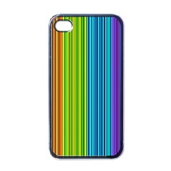 Colorful Lines Apple Iphone 4 Case (black) by Valentinaart