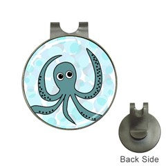 Octopus Hat Clips With Golf Markers by Valentinaart