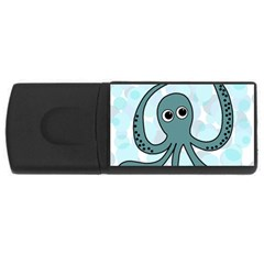 Octopus Usb Flash Drive Rectangular (4 Gb)  by Valentinaart