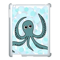 Octopus Apple Ipad 3/4 Case (white) by Valentinaart