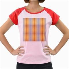 Blue Yellow Summer Pattern Women s Cap Sleeve T Shirt by Costasonlineshop