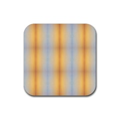 Blue Yellow Summer Pattern Rubber Coaster (square)