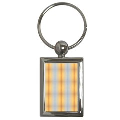 Blue Yellow Summer Pattern Key Chains (rectangle)  by Costasonlineshop