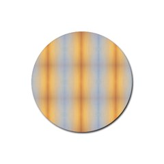 Blue Yellow Summer Pattern Rubber Round Coaster (4 Pack)