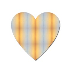Blue Yellow Summer Pattern Heart Magnet by Costasonlineshop