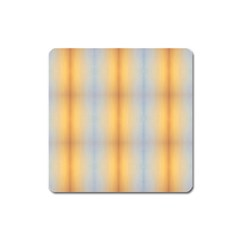 Blue Yellow Summer Pattern Square Magnet by Costasonlineshop
