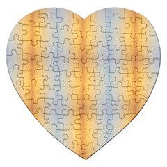 Blue Yellow Summer Pattern Jigsaw Puzzle (heart)