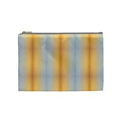 Blue Yellow Summer Pattern Cosmetic Bag (medium)