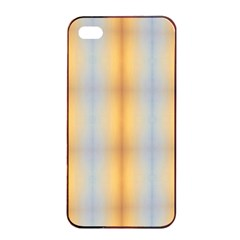 Blue Yellow Summer Pattern Apple Iphone 4/4s Seamless Case (black) by Costasonlineshop