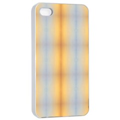 Blue Yellow Summer Pattern Apple Iphone 4/4s Seamless Case (white)