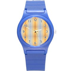 Blue Yellow Summer Pattern Round Plastic Sport Watch (s) by Costasonlineshop