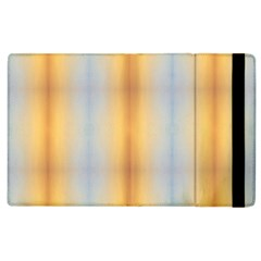 Blue Yellow Summer Pattern Apple Ipad 2 Flip Case