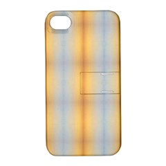 Blue Yellow Summer Pattern Apple Iphone 4/4s Hardshell Case With Stand by Costasonlineshop