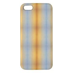 Blue Yellow Summer Pattern Iphone 5s/ Se Premium Hardshell Case by Costasonlineshop