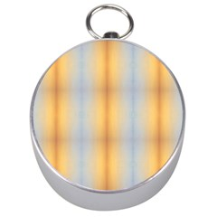 Blue Yellow Summer Pattern Silver Compasses by Costasonlineshop