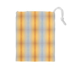 Blue Yellow Summer Pattern Drawstring Pouches (large)