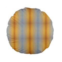 Blue Yellow Summer Pattern Standard 15  Premium Flano Round Cushions