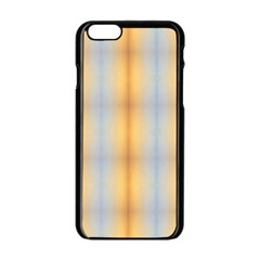 Blue Yellow Summer Pattern Apple Iphone 6/6s Black Enamel Case