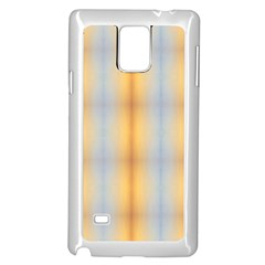 Blue Yellow Summer Pattern Samsung Galaxy Note 4 Case (white)