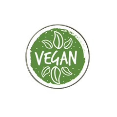 Vegan Label3 Scuro Hat Clip Ball Marker (10 Pack) by CitronellaDesign