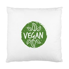 Vegan Label3 Scuro Standard Cushion Case (two Sides) by CitronellaDesign