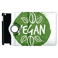Vegan Label3 Scuro Apple Ipad 2 Flip 360 Case by CitronellaDesign