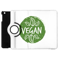 Vegan Label3 Scuro Apple Ipad Mini Flip 360 Case by CitronellaDesign