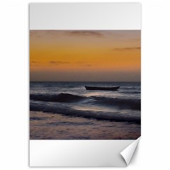 Small Boat At Sea Jericoacoara Brazil Canvas 12  X 18   by dflcprints