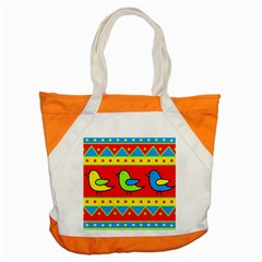 Birds Pattern Accent Tote Bag by Valentinaart