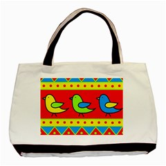 Birds Pattern Basic Tote Bag (two Sides) by Valentinaart