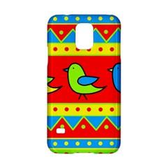 Birds Pattern Samsung Galaxy S5 Hardshell Case  by Valentinaart