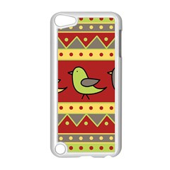 Brown Bird Pattern Apple Ipod Touch 5 Case (white) by Valentinaart