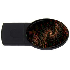 Multicolor Fractals Digital Art Design USB Flash Drive Oval (1 GB)  by Zeze
