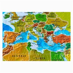 World Map Collage Prints by Zeze