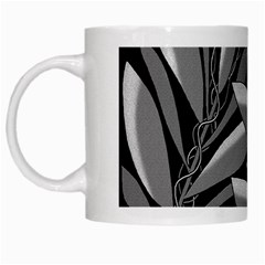 Gray Plant Design White Mugs by Valentinaart