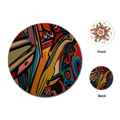 Vivid Colours Playing Cards (Round)  by Zeze