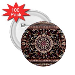 Vectorized Traditional Rug Style Of Traditional Patterns 2.25  Buttons (100 pack)  by Zeze