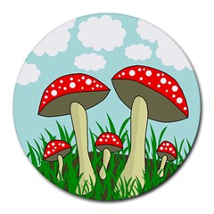 Mushrooms  Round Mousepads by Valentinaart