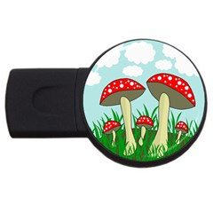 Mushrooms  Usb Flash Drive Round (2 Gb)  by Valentinaart