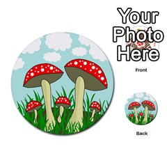 Mushrooms  Multi Purpose Cards (round)  by Valentinaart