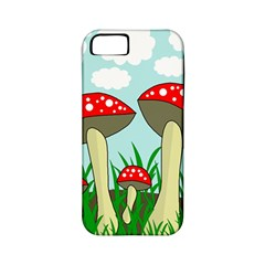 Mushrooms  Apple Iphone 5 Classic Hardshell Case (pc+silicone) by Valentinaart