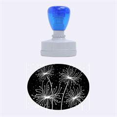 Elegant Dandelions  Rubber Oval Stamps by Valentinaart