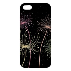 Elegant Dandelions  Apple Iphone 5 Premium Hardshell Case by Valentinaart