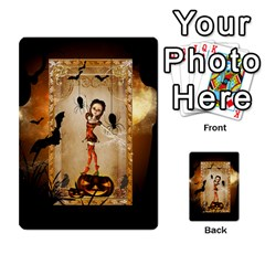 Halloween, Cute Girl With Pumpkin And Spiders Multi Purpose Cards (rectangle)  by FantasyWorld7