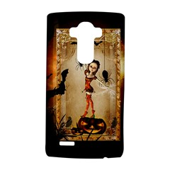 Halloween, Cute Girl With Pumpkin And Spiders Lg G4 Hardshell Case by FantasyWorld7