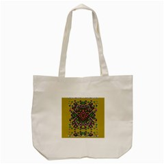 Fantasy Flower Peacock With Some Soul In Popart Tote Bag (cream) by pepitasart